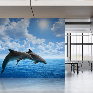 large-office-dolphin-artwork